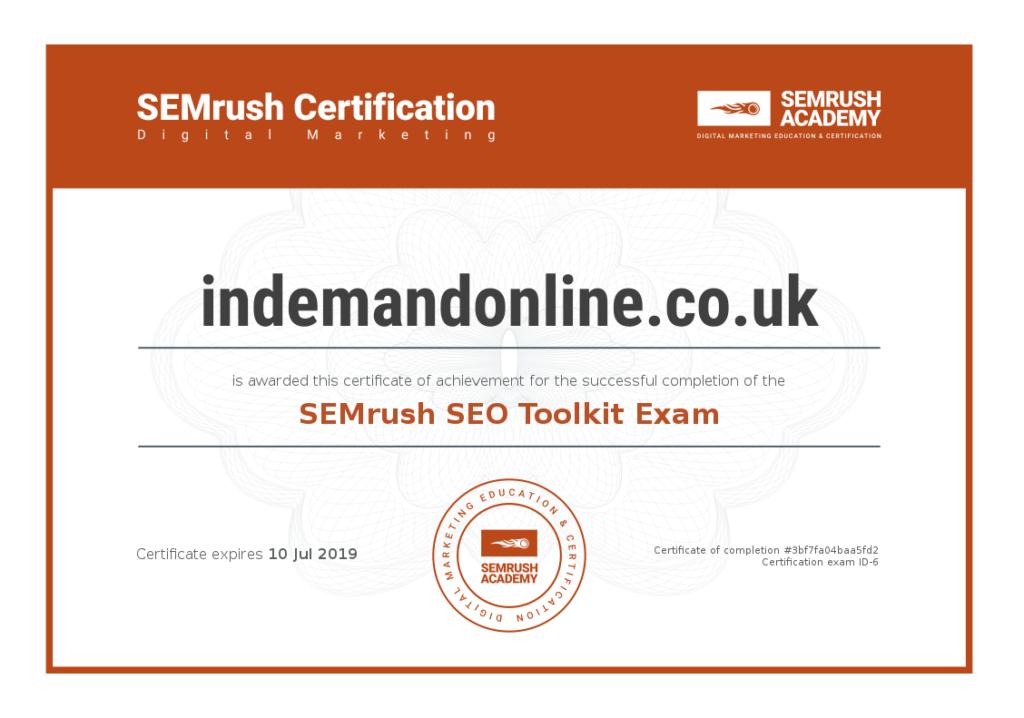 Image of Web Designer SEO Certificate