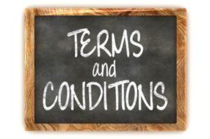 Image of indemandonline.co.uk Web Designer Terms & Conditions blackboard sign