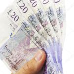Image of five £20 notes