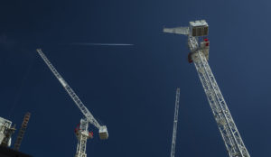 Image of tower cranes in Wembley Park