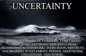 Image of Ocean of Uncertainty with definitions of meaning for Web Designers & Businesses
