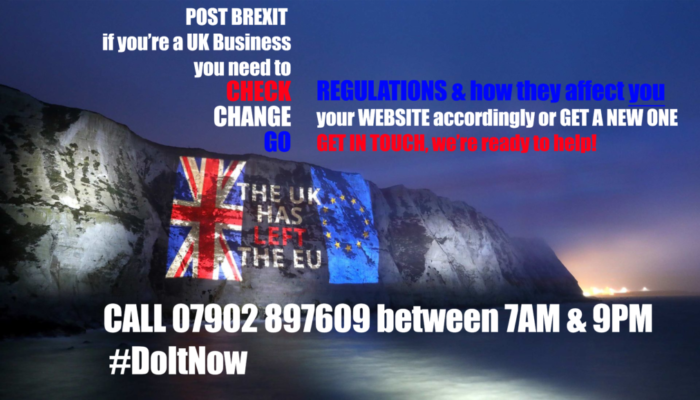 Check Change Go Brexit for Business Websites message