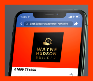 Image of photoshopped mobile phone SERP for a tradesman website in Yorkshire